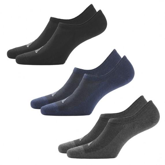 Chaussettes Invisibles Protège-Pieds Pack de 3 (Chaussettes de sport) Kappa chez FrenchMarket
