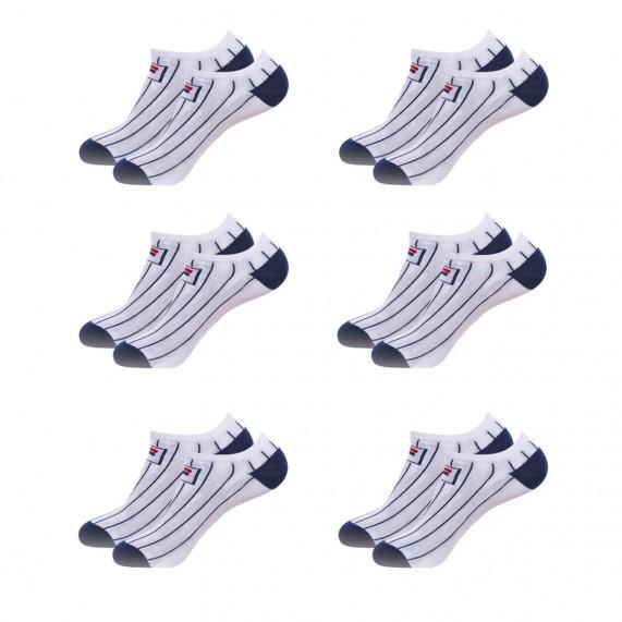 Chaussettes Tiges Courtes Blanche Rayures Lot de 6 (Chaussettes de sport) Fila chez FrenchMarket