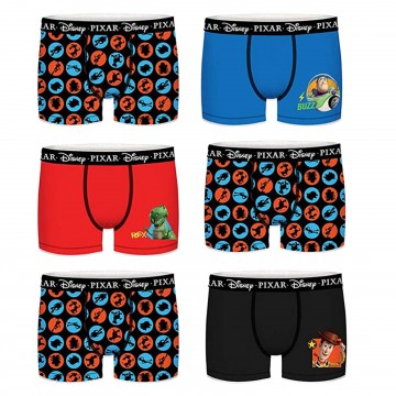 Lot de 6 Boxers Coton Toy Story  (Boxers) Freegun chez FrenchMarket