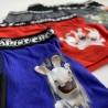 Lot de 5 Boxers Coton Garçon Lapins Crétins (Boxers) Freegun chez FrenchMarket