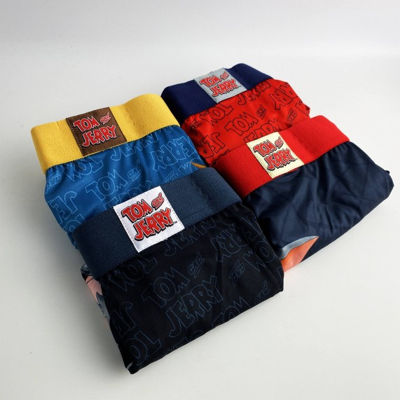 Lot de 4 Boxers Homme Tom and Jerry (Boxers) Freegun chez FrenchMarket