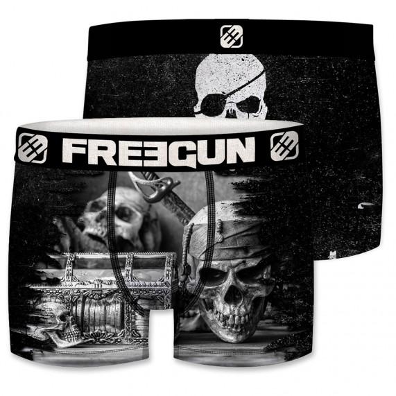 Boxer Homme Drapeau Pirate (Boxers) Freegun chez FrenchMarket