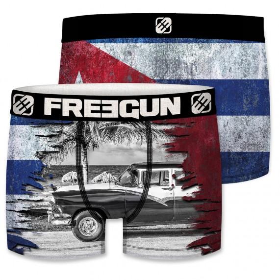 Boxer Homme Drapeau Cuba (Boxers) Freegun chez FrenchMarket