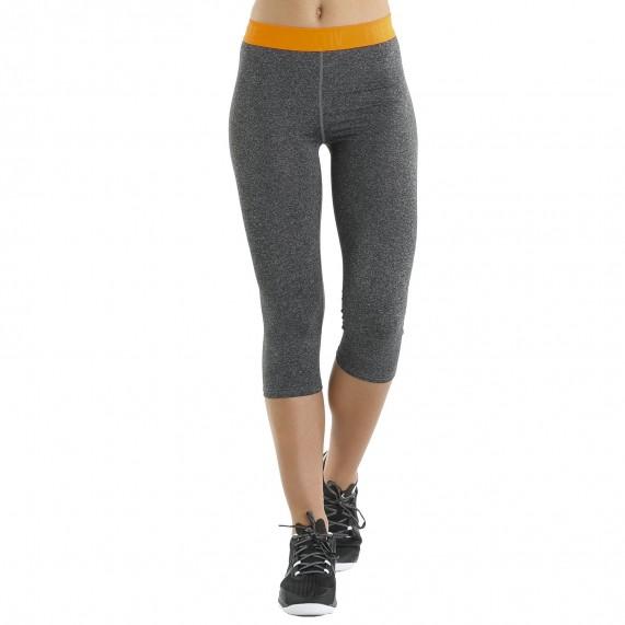 Legging de Sport FREEGUN AKTIV en microfibre pour femme 3/4 gris (Leggings Sport) Freegun chez FrenchMarket