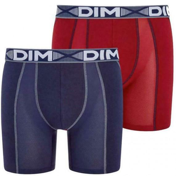 Lot de 2 Boxers Longs Homme 3D Flex Air (Boxers) Dim chez FrenchMarket