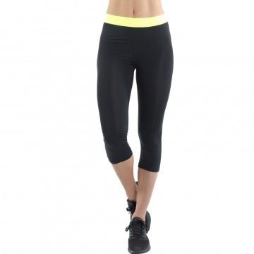 Legging de Sport FREEGUN AKTIV en microfibre pour femme 3/4 noir (Leggings Sport) Freegun chez FrenchMarket
