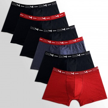 Lot de 6 Boxers Homme Coton Stretch (Boxers) Dim chez FrenchMarket