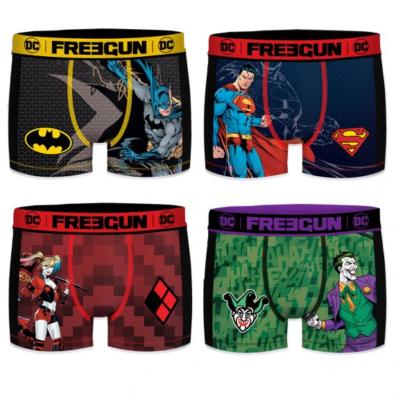 Lot de 4 Boxers Homme DC Comics AKTIV Sport (Boxers) Freegun chez FrenchMarket