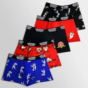 Lot de 5 Boxers Coton Garçon Looney Tunes (Boxers) Freegun chez FrenchMarket