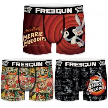 Lot de 3 Boxers Garçon Looney Tunes (Boxers) Freegun chez FrenchMarket