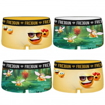 Lot de 4 shorties Fille Pack Rock (Boxers/Shorty) Freegun chez FrenchMarket