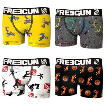 Lot de 4 Boxers FREEGUN Bébé Pack Sport  (Boxers) Freegun chez FrenchMarket