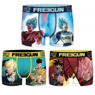Lot de 3 Boxers Garçon Dragon Ball Super (Boxers) Freegun chez FrenchMarket