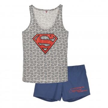 Pyjama Débardeur Femme Superman en Coton (Ensembles de Pyjama) French Market chez FrenchMarket