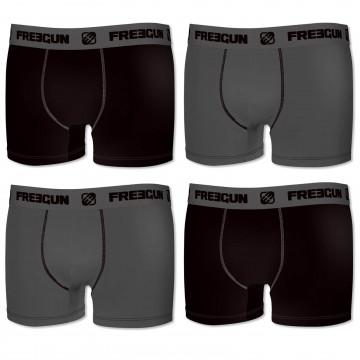 Lot de 4 Boxers Homme Premium Coton (Boxers) Freegun chez FrenchMarket