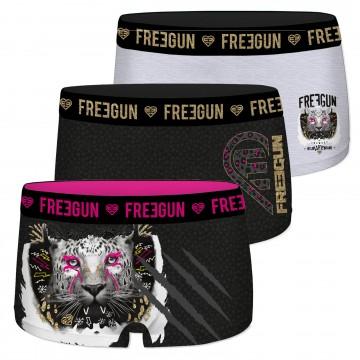 Lot de 3 Shorties Fille Fantaisie (Boxers/Shorty) Freegun chez FrenchMarket