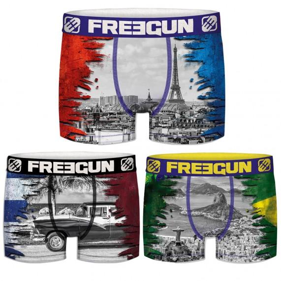 Lot de 3 Boxers Garçon Premium (Boxers) Freegun chez FrenchMarket
