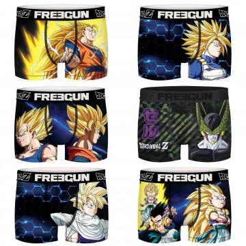Lot de 6 Boxers Homme Dragon Ball Z Super Saiyan (Boxers) Freegun chez FrenchMarket