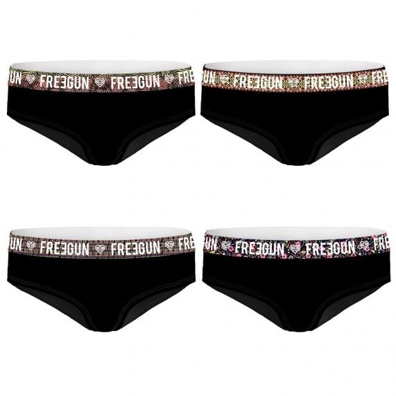 Lot de 4 boxers Fille en Coton (Boxers/Shorty) Freegun chez FrenchMarket