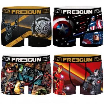 FREEGUN Lot de 4 Boxers Garçon Marvel Avengers (Boxers) Freegun chez FrenchMarket