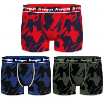 Lot de 3 Boxers Coton Homme Never Stop (Boxers) Freegun chez FrenchMarket
