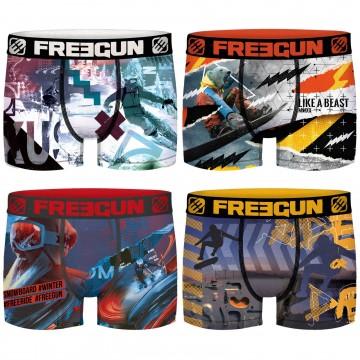 Lot de 4 Boxers Garçon Sport & Life (Boxers) Freegun chez FrenchMarket