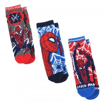 Lot de 3 Paires de Chaussettes Garçon Antidérapantes MARVEL Spider-Man (Fantaisies) French Market chez FrenchMarket