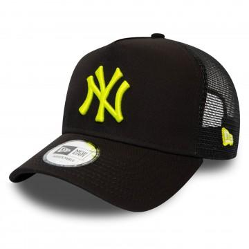 Casquette League Essential Trucker NY Yankees Noir Logo Fluo (Casquettes) New Era chez FrenchMarket