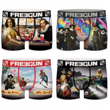 Lot de 4 Boxers Premium Garçon (Boxers) Freegun chez FrenchMarket