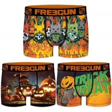 "Lot de 3 Boxers Garçon ""Halloween"" (Boxers) Freegun chez FrenchMarket"