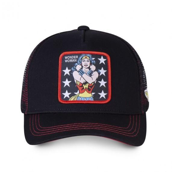 CAPSLAB Casquette Trucker Femme DC Comics Wonder Woman (Noir) (Casquettes) Capslab chez FrenchMarket