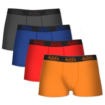 Lot de 4 Boxers Von Dutch Homme en Coton Pack Color (Boxers) Von Dutch chez FrenchMarket