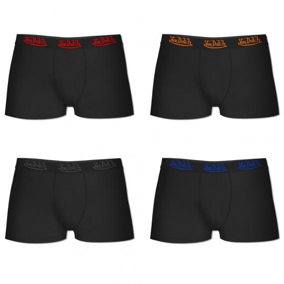 Lot de 4 Boxers Von Dutch Homme en Coton Pack Noir Ceinture Color (Boxers) Von Dutch chez FrenchMarket