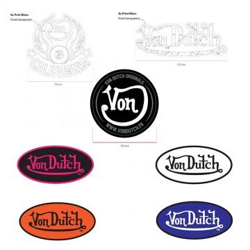 VON DUTCH Stickers Autocollant Customs (Pack01) (Autocollants/Stickers) Von Dutch chez FrenchMarket