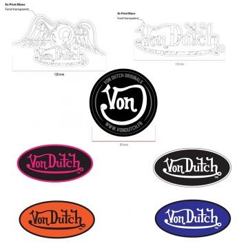VON DUTCH Stickers Autocollant Customs (Pack02) (Autocollants/Stickers) Von Dutch chez FrenchMarket