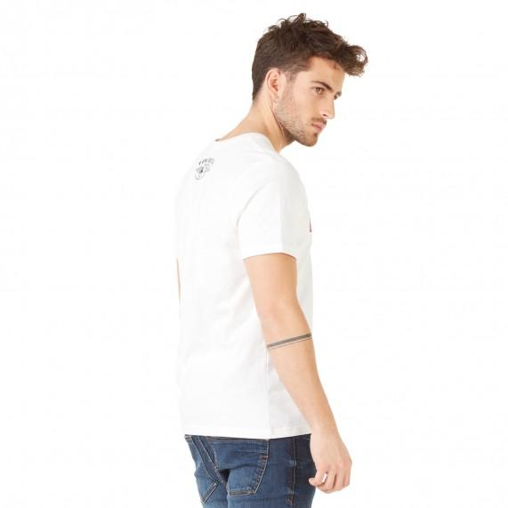 Von Dutch T-Shirt Homme Bells Blanc Logo Rouge (T Shirts) Von Dutch chez FrenchMarket