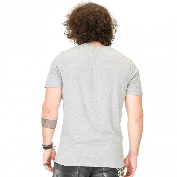 Von Dutch T-Shirt Homme Classic Gris Logo Blanc (T Shirts) Von Dutch chez FrenchMarket