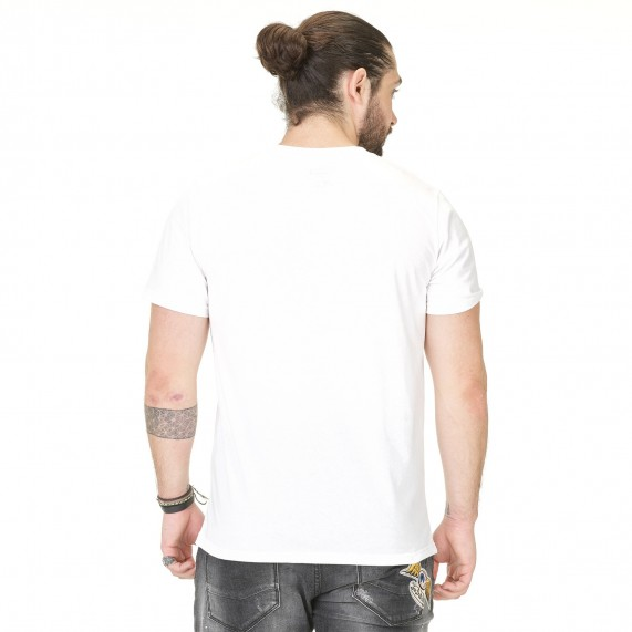 Von Dutch T-Shirt Homme Classic Blanc Logo Noir (T Shirts) Von Dutch chez FrenchMarket