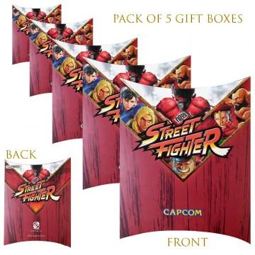 Lot de 5 Boites cadeaux berlingot Street Fighter (Boites cadeaux) French Market chez FrenchMarket