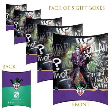 Lot de 5 Boites cadeaux berlingot The Joker  (Boites cadeaux) chez FrenchMarket