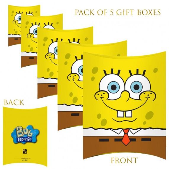 Lot de 5 Boites cadeaux berlingot Bob L'éponge (Boites cadeaux) French Market chez FrenchMarket