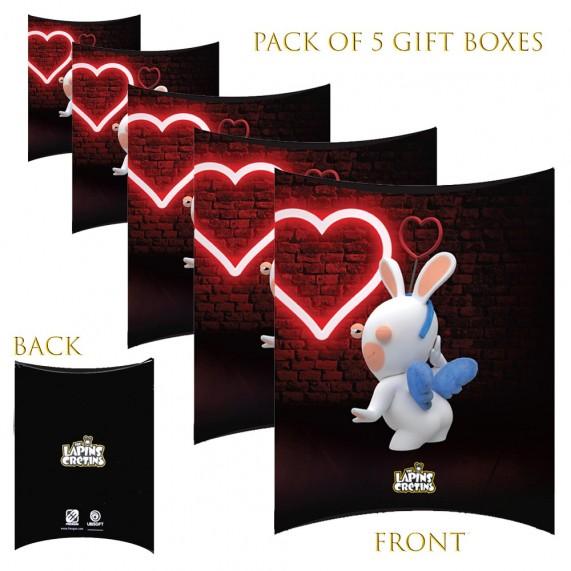 Lot de 5 Boites cadeaux berlingot Lapins Crétins Love (Boites cadeaux) French Market chez FrenchMarket