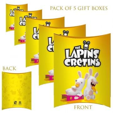 Lot de 5 Boites cadeaux berlingot Lapins Crétins Glace (Boites cadeaux) French Market chez FrenchMarket