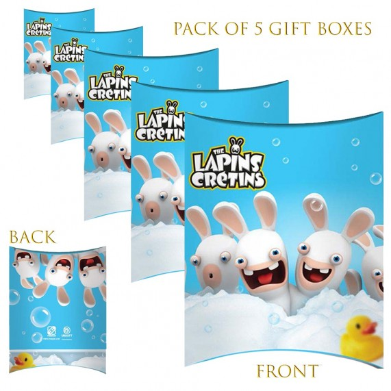 Lot de 5 Boites cadeaux berlingot Lapins Crétins Mousse (Boites cadeaux) French Market chez FrenchMarket