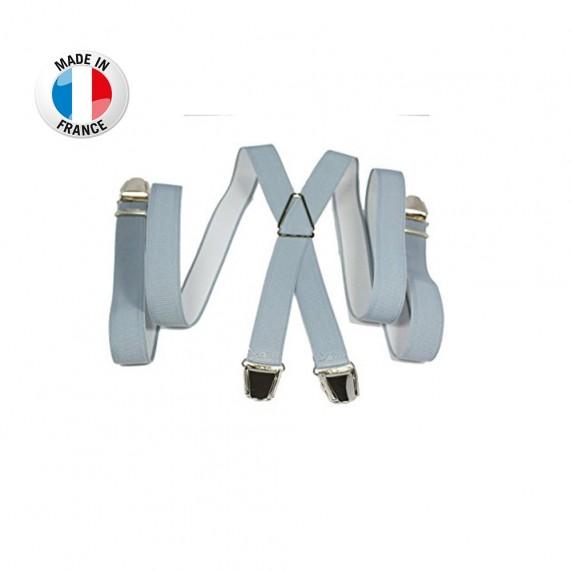 Bretelles en X à pinces/clips Fine (2,5 cm) Gris Clair - Fabrication Française  (Bretelles) chez FrenchMarket