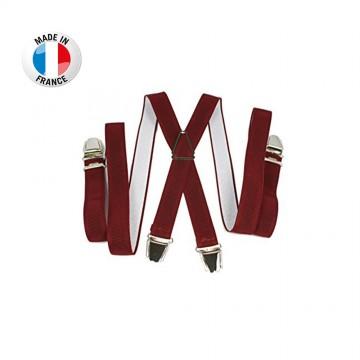 Bretelles en X à pinces/clips Fine (2,5 cm) Rouge - Fabrication Française  (Bretelles) chez FrenchMarket