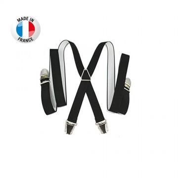 Bretelles en X à pinces/clips Fine (2,5 cm) Noir - Fabrication Française  (Bretelles) chez FrenchMarket