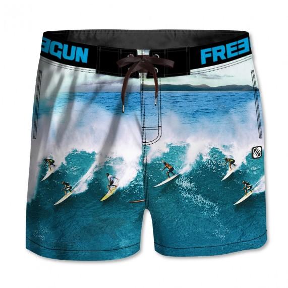 FREEGUN Boardshort Court Garçon Surf (Boardshorts/Shorts de Bain) Freegun chez FrenchMarket