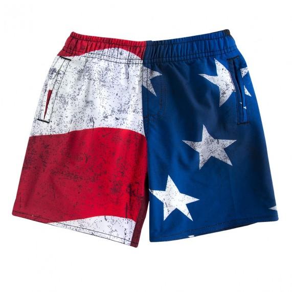 Boardshort Freegun Bébé Flag USA (Boardshorts/Shorts de Bain) Freegun chez FrenchMarket