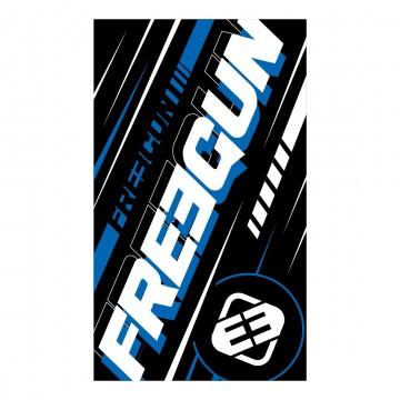 Serviette de Plage FREEGUN Racing Bleu 100% Coton dimension 100 * 170 CM (Serviettes de Bain) Freegun chez FrenchMarket